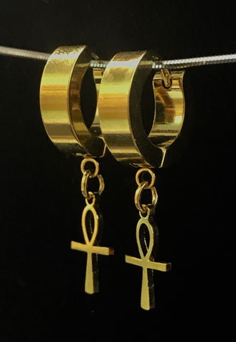 Ankh Dangle Earrings