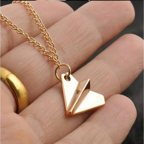 Paper Airplane Necklace (2 Colors)