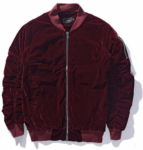 Velvet Bomber Jacket (3 colors)