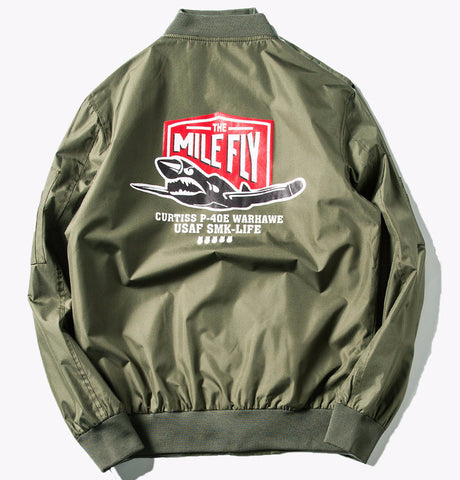 Mile Fly Bomber Jacket (Olive) *Made to Order*