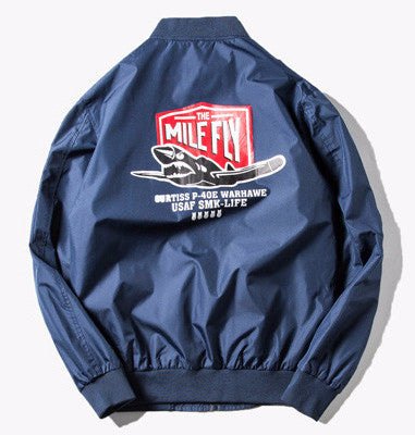 Mile Fly Bomber Jacket (Navy) *Made to Order*