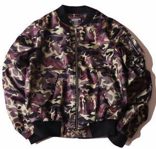 Cash Camo Bomber Jacket (Brown) *Made to Order*