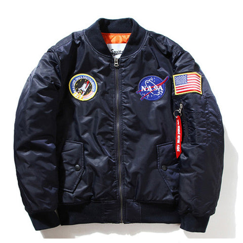 NASA Flight Jacket (Navy) - RoialBijouxx