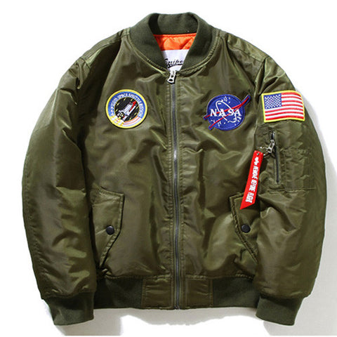 NASA Flight Jacket (Olive) - RoialBijouxx