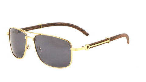 Piloto Wood Sunglasses (Gold)