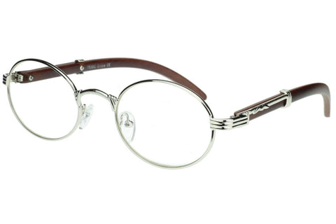 Oval Carter Glasses (Silver)