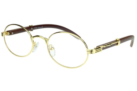 Oval Carter Glasses (Gold)