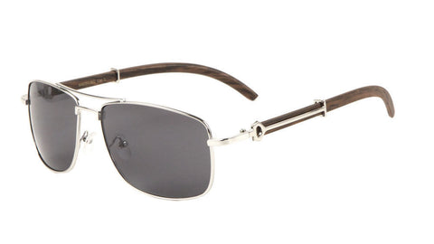 Piloto Wood Sunglasses (Silver)