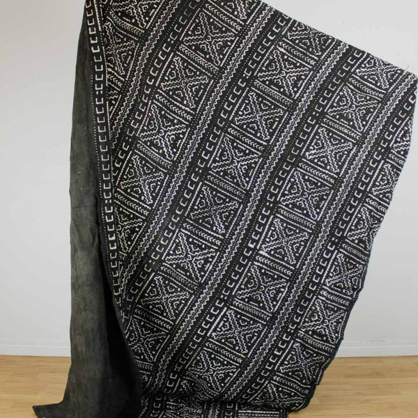 African Mudcloth Material - Black