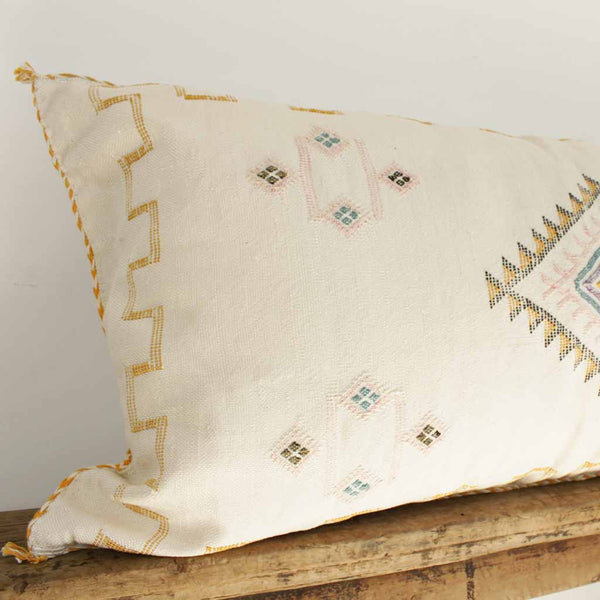 Cactus Silk Lumbar Cushion - Blanco