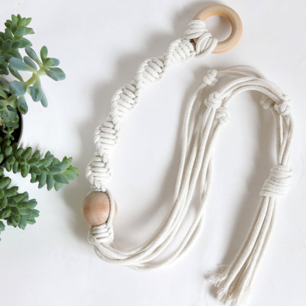 Hand Knotted Plant Hanger - Twist