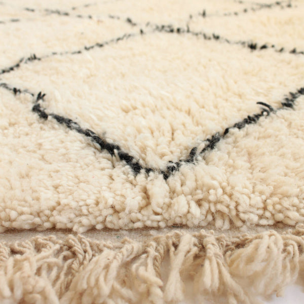 beautiful handmade wool Beni Ouarain Moroccan Rug