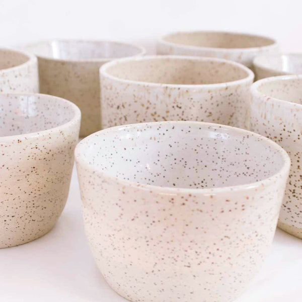 Ceramic Large Pots - Neutral Light Colour with Speckles