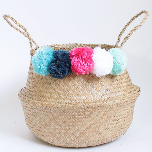 Pom Pom Belly Basket - Sirena