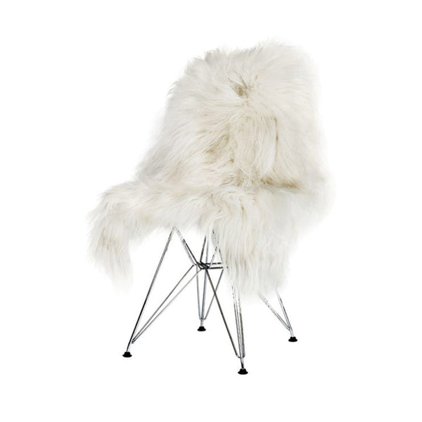 Sheepskin Longhair - White