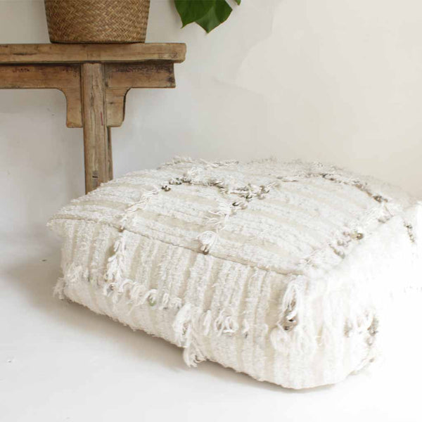 Moroccan Wedding Blanket Pouf