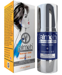 Yalmeh® Hyaluronic Acid Serum Advanced Formula. Deeply Hydrates & Plumps-Up Skin Tissue To Soften The Wrinkles.