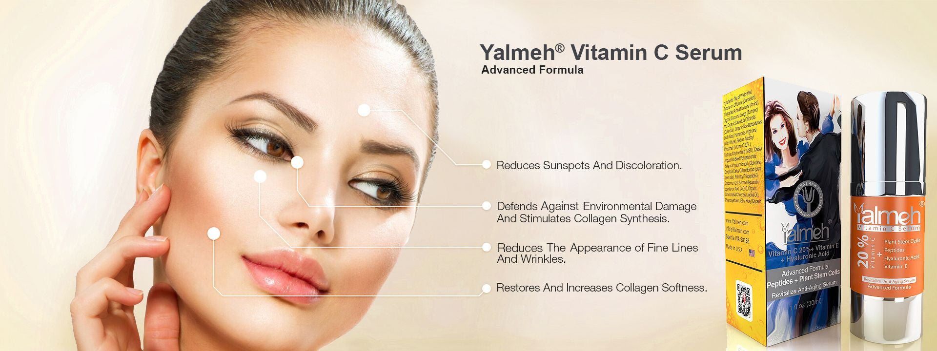 Vitamin C  Serum Advance By Yalmeh Naturals