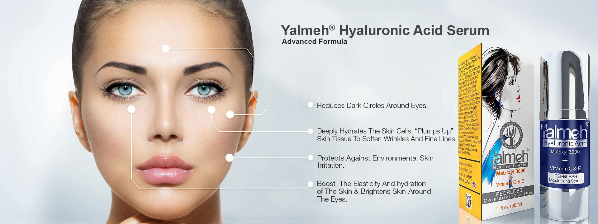 Hyaluronic Acid Serum Advance By Yalmeh Naturals