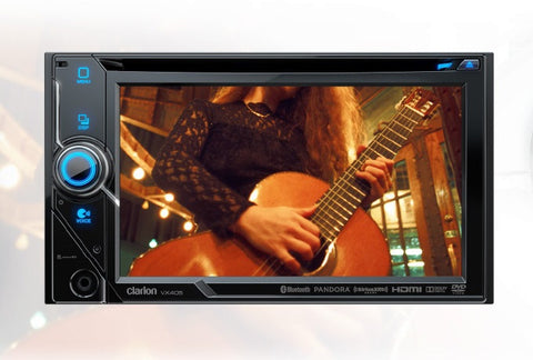 "Clarion VX405 Double DIN Bluetooth DVD Car Stereo Receiver w/ 6.2"" Display"