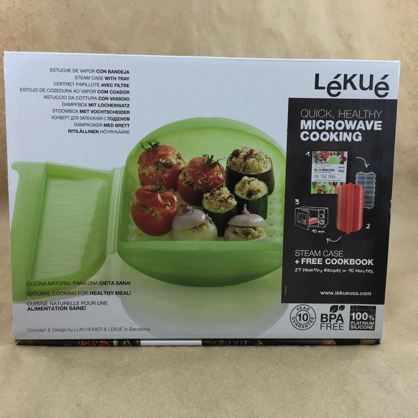 Lekue Steam Case 3-4 Person Green w/Tray