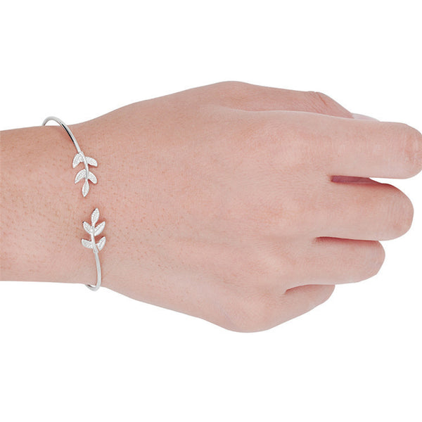 Leaves Stretch Women's Open Bracelet