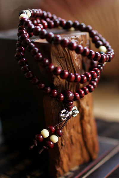 Buddha Bead Wrap Bracelet Men's and Women's - Long Spiritual Yoga Bracelet