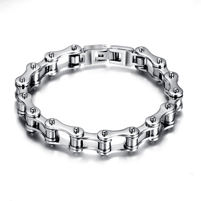 Stainless Steel Bicycle Chain Link Men's Bracelet | For Bike Enthusiasts