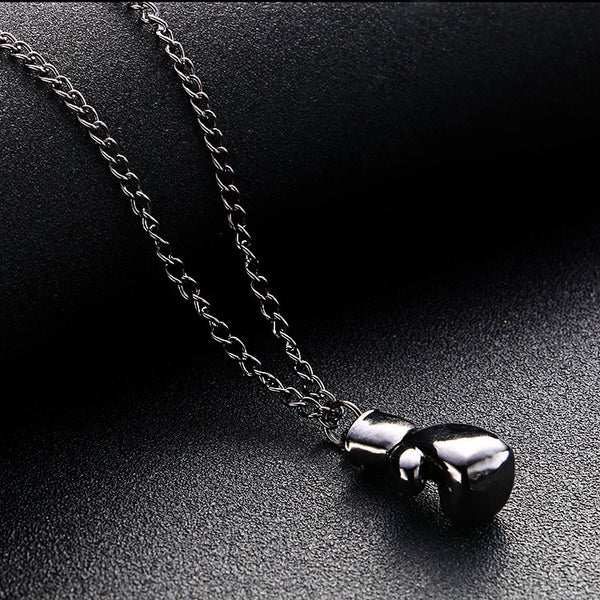 Black Boxing Glove Pendant Necklace Rocky Balboa