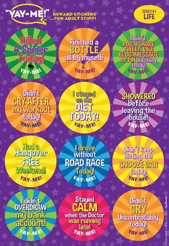 Yay-Me Adult Reward Stickers - LIFE