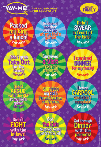 Yay-Me Adult Reward Stickers - FAMILY - Yay-Me