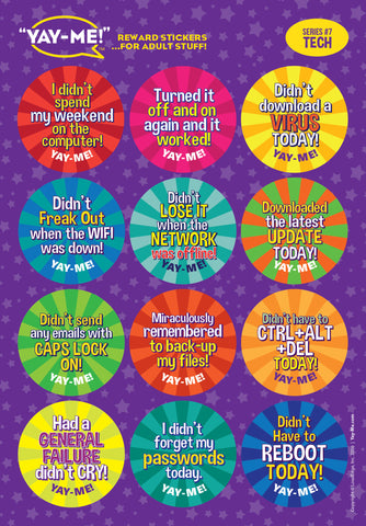 Yay-Me Adult Reward Stickers - TECH - Yay-Me