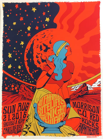 *SIGNED* Red Rocks Amphitheatre Show Poster (08.21.2016)
