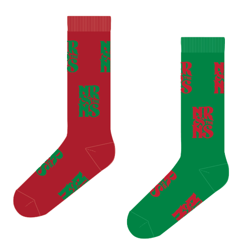NR&NS Logo Christmas Socks