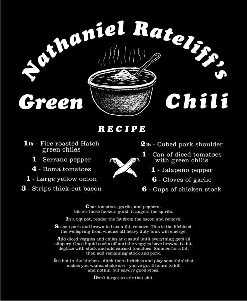 Green Chili Recipe Shirt