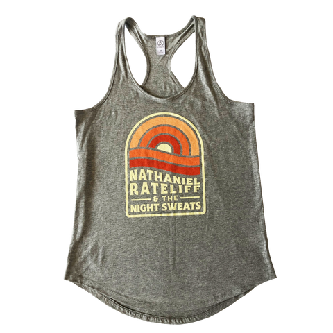 Women's Orange Sunset Shirttail Tank