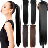 "Fake Hair Ponytail Long Straight Hair Pieces Synthetic Hair 105g 22"" Hairpiece Clip In Pony Tail Ponytail apply Multicolor - Virtual Store USA"