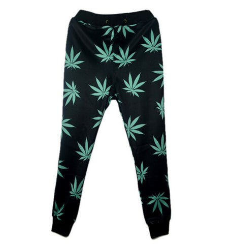 3D print joggers for men/women hemp weed leaf sweatpants jogging trousers emoji sports pants - Virtual Store USA