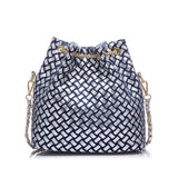 Women denim bag with rhinestones handbag with chain handle summer beach small sh