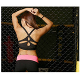 Popular Women's Black Padded Sports Bra Crisscross Yoga Sports Top Push Up Underwear Workout Clothing Tank Top