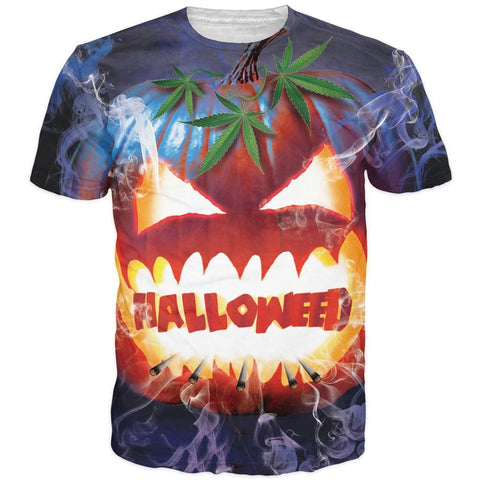 Halloween T-Shirt Men Women Funny 3D t shirts Jack-O'-Lantern Monster Prints tsh