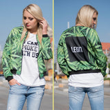 3D Print Weed Abrigos Mujer Jacket Casual Bomber Short Jackets Slim Brand 3d Jacket Autumn Feminino Outwear - Virtual Store USA