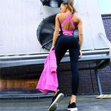 Gym fitness clothing suit for women Running tight jumpsuits sports yoga sets