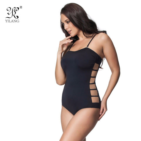 Sexy Hollow Out Lace Women's Swimwear Side Cut Transparent Mesh Bathing Suits Br