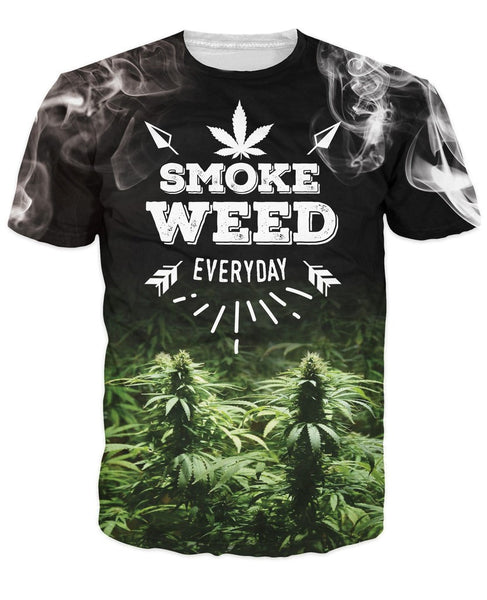 Weed Everyday T-Shirt Women Men 3d Printing t shirt Casual Summer Style Tees Spo