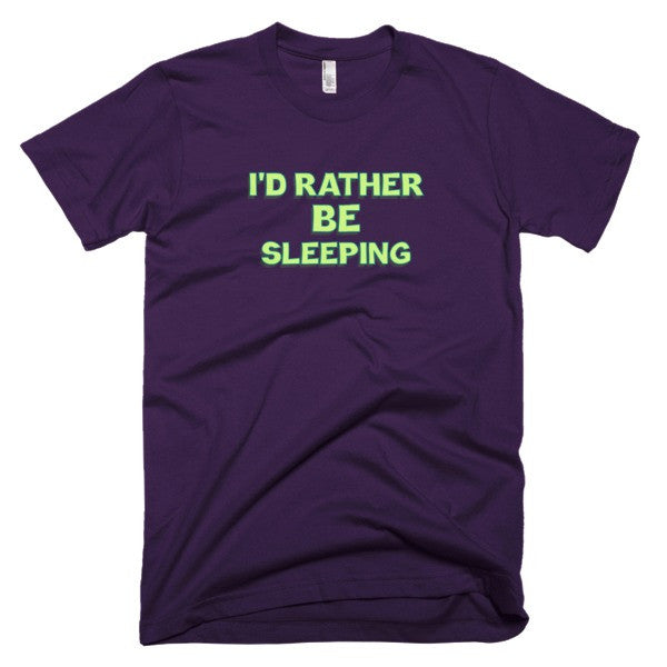 I'd Rather be Sleeping Short sleeve men's t-shirt