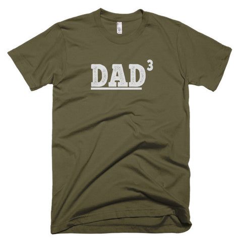 DAD 3 Husband Gift, Valentine's Gift, Father's Day Gift, New Dad Funny T shirt Short sleeve men's t-shirt - Virtual Store USA