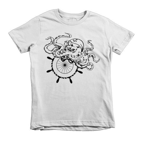 Nautical Octopus Short sleeve kids t-shirt
