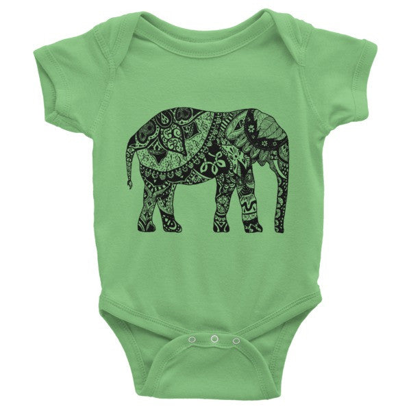 Paisley Elephant Infant short sleeve one-piece