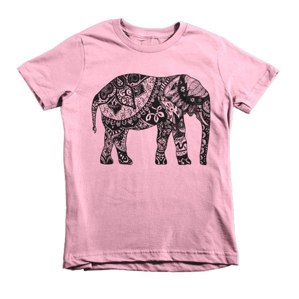 Paisley Elephant Short sleeve kids t-shirt